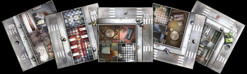 Zombicide Season 1 from Guillotine Games & CoolMiniOrNot - Game boards