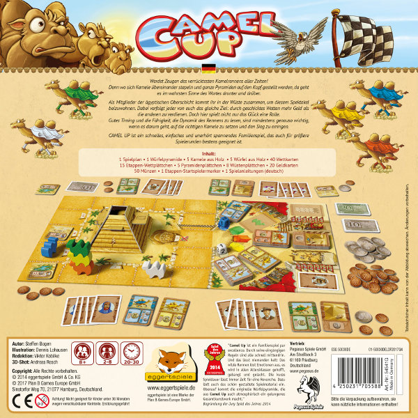 deutsch Pegasus Spiele Camel Up 2nd Edition
