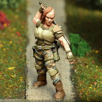 Futuristic soldier in modern armour with sword (Ellenor Renard for Afterlife) from Anvil Industry - Miniature figure