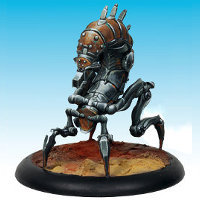 Mechanical creature in 1/50 scale - Centipede #1 for the Dark Age wargame from CoolMiniOrNot, 2016 - Miniature figure review