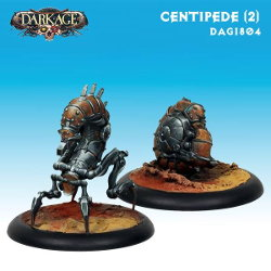 Centipede (2) set for the Saint Isaac faction of the Forsaken for Dark Age from CoolMiniOrNot, 2015 - Miniature set review