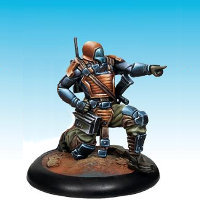 Futuristic warrior in 1/50 scale - Controller #3 for the Dark Age wargame from CoolMiniOrNot, 2016 - Miniature figure review