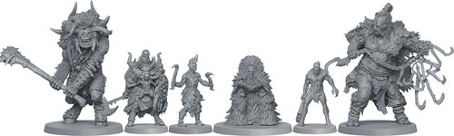 Mercenaries miniatures in the HATE boardgame base set