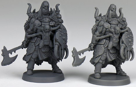 Humanoid warrior in 1/50 scale - The Brothers Ashkar for the Mercenaries for HATE boardgame from CoolMiniOrNot, 2019 - Miniature figure review