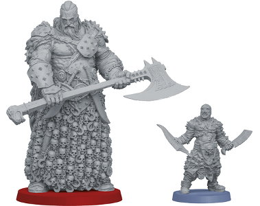 Tyrant miniature figure 1:50 scale comparison to Um'Rak Warrior #2 from the HATE boardgame base set