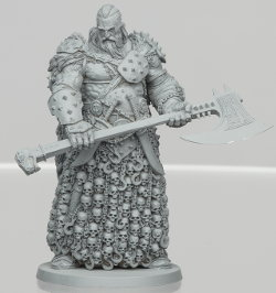 Giant humanoid warrior in 1/50 scale - Tyrant for HATE boardgame from CoolMiniOrNot, 2019 - Miniature figure review
