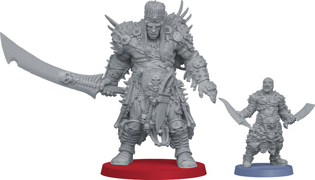 Giant humanoid warrior with greatsword in 1/50 scale - Um'Cal Prince