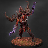 Human warrior in 1/50 scale - Abyssal Demon for Massive Darkness from CoolMiniOrNot, 2017 - Miniature figure review