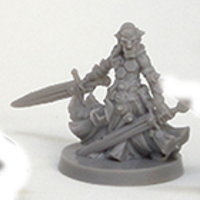Humanoid warrior in 1/50 scale - Goblin Agent for Massive Darkness from CoolMiniOrNot, 2017 - Miniature figure review