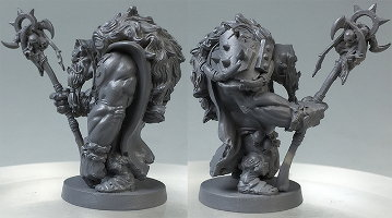 Humanoid warrior in 1/50 scale - Ogre Mage for Massive Darkness from CoolMiniOrNot, 2017 - Miniature figure review