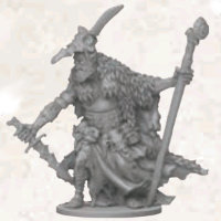 Humanoid warrior in 1/50 scale - Orc Flayer Boss for Massive Darkness from CoolMiniOrNot, 2017 - Miniature figure review