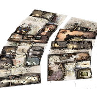 Medieval urban game tile kit in 1/50 scale - Zombicide: Black Plage Base Set tiles for Zombicide: Black Plague from CMON - Miniature scenery review