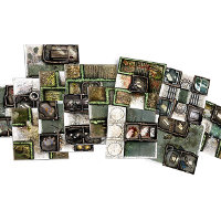 Medieval urban & rural game tile kit in 1/50 scale - Zombicide: Green Horde Base Set game tiles for Zombicide: Green Horde from CMON, 2018 - Miniature scenery review
