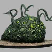 Blob with tentacles in 1/56 scale - Shoggoth #1 from CP Models, 2011 - Miniature creature review