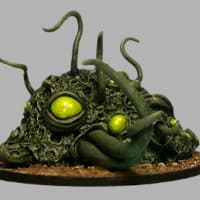 Blob with tentacles in 1/56 scale - Shoggoth #2 from CP Models, 2015 - Miniature creature review