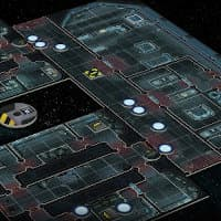 Futuristic building interior & alien hive modular game tile kit in 1/56 scale - Aliens: Another Glorious Day in the Corps game tiles for Aliens from Gale Force Nine, 2020 - Miniature scenery review