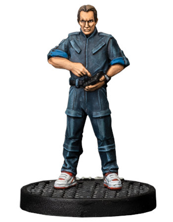 Modern civilian - Bishop for Aliens board game from Gale Force Nine, 2020 - Miniature figure review