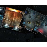 Futuristic building interior & alien hive modular game tile kit in 1/56 scale - Aliens: Get Away From Her, You B***h! game tiles for Aliens from Gale Force Nine, 2020 - Miniature scenery review
