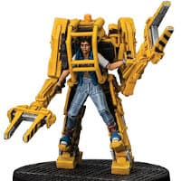 Industrial walker with female operator - Ripley in Powerloader for Aliens board game from Gale Force Nine, 2020 - Miniature figure & vehicle review