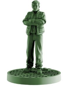 Modern civilian - Burke for Aliens board game from Gale Force Nine, 2020 - Miniature figure review