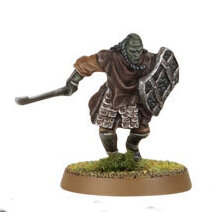 Orc warrior with sword and shield (Mordor Orc #1) from Games Workshop