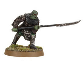 Orc warrior with polearm (Mordor Orc #3) from Games Workshop