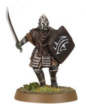 Orc warrior with sword and shield (Mordor Orc #4) from Games Workshop