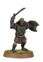 Orc warrior with sword and shield (Mordor Orc #5) from Games Workshop