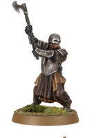Orc warrior with two-handed axe (Mordor Orc #6) from Games Workshop