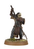 Orc warrior with polearm (Mordor Orc #9) from Games Workshop
