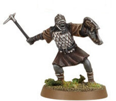 Orc warrior with warpick and shield (Mordor Orc #10) from Games Workshop