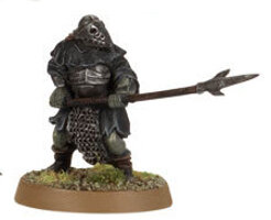 Orc warrior with polearm (Mordor Orc #12) from Games Workshop