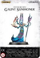 Humanoid alien magic-user in 1/56 scale (Gaunt Summoner for Warhammer: Age of Sigmar) from Games Workshop - Miniature figure review