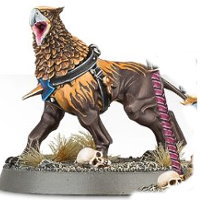 Avian hound (Gryph-hound of Lord-Veritant for Warhammer: Age of Sigmar) from Games Workshop - Miniature creature