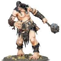 Giant warrior with wrecking ball in 1/56 scale - Gatebreaker Mega-Gargant for Sons of Behemat of Warhammer: Age of Sigmar from Games Workshop, 2020 - Miniature figure review