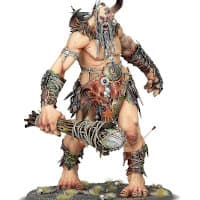Giant warrior with club in 1/56 scale - Warstomper Mega-Gargant for Sons of Behemat of Warhammer: Age of Sigmar from Games Workshop, 2020 - Miniature figure review
