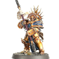 Large armoured warrior with glaive in 1/56 scale - Protector with Stormstrike Glaive for the Stormcast Eternals of Warhammer: Age of Sigmar from Games Workshop, 2015 - Miniature figure review