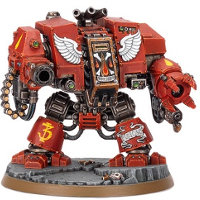 Combat walker in 1/56 scale (Blood Angels Furioso Dreadnought for Warhammer 40.000 Ed8) from Games Workshop - Miniature figure review