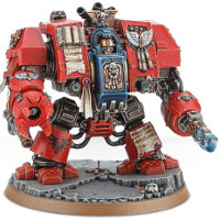 Combat walker in 1/56 scale (Blood Angels Librarian Dreadnought for Warhammer 40.000 Ed8) from Games Workshop - Miniature figure review