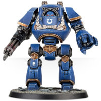 Combat mech in 1/56 scale (Deathwatch Venerable Dreadnought for Warhammer 40.000 Ed8) from Games Workshop - Miniature figure review