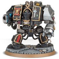 Combat walker in 1/56 scale (Deathwatch Venerable Dreadnought for Warhammer 40.000 Ed8) from Games Workshop - Miniature figure review