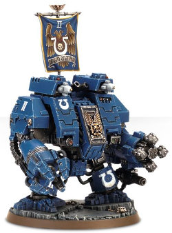 Combat walker in 1/56 scale (Ironclad Dreadnought for Warhammer 40.000 Ed8) from Games Workshop - Miniature figure review