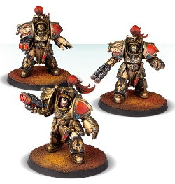 Legio Custodes Aquilon Terminator Squad set for Warhammer 40.000 Ed8 from Forge World (Games Workshop) - Miniature set review
