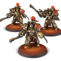 Legio Custodes Aquilon Terminators with Infernus Firepikes set for Warhammer 40.000 Ed8 from Forge World (Games Workshop) - Miniature set review