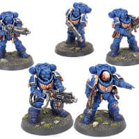 Primaris Space Marine Heavy Intercessors kit #1 for Warhammer 40,000 Ed9 from Games Workshop, 2021 - Miniature figure kit review
