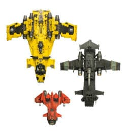 Size comparison: Sokar pattern Stormbird, Thunderhawk Gunship #2, and Storm Eagle from Games Workshop (Forge World)