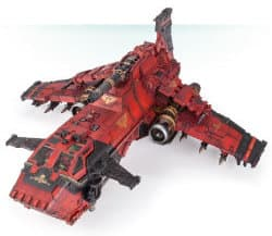 Combat flyer in 1/64 scale - Thunderhawk Gunship #3 for Warhammer 40,000 Ed8 from Games Workshop (Forge World), 2017 - Miniature vehicle review
