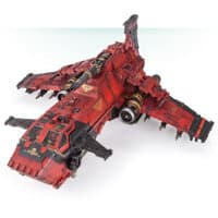 Combat flyer in 1/56 scale (Thunderhawk Gunship #3 for Warhammer 40,000 Ed8) from Games Workshop (Forge World), 2017 - Miniature vehicle review