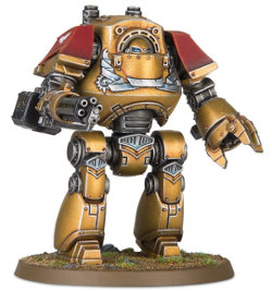 Combat walker in 1/56 scale (Venerable Contemptor Dreadnought for Warhammer 40.000 Ed8) from Games Workshop - Miniature figure review