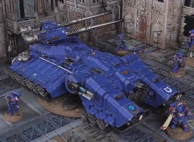 Hovering combat vehicle in 1/64 scale (Astraeus Super-heavy Tank build #2 for Warhammer 40.000 Ed8) from Forge World (Games Workshop), 2017 - Miniature vehicle review